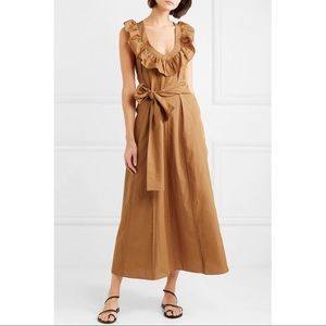 Three Graces London Josephine Ruffled Maxi Dress